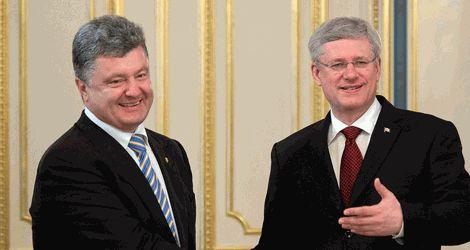 Президент Украины обсудил с премьер-министром Канады вопросы свободной торговли между странами
