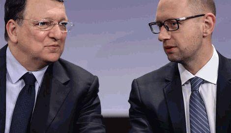 Яценюк обсудил с Баррозу имплементацию соглашения об ассоциации