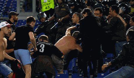 Результатом драки на стадионе в Риме, стал запрет болельщикам ЦСКА въезжать на территорию ЕС сроком на 5 лет