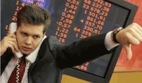 За день до введения санкций акции российских компаний рухнули