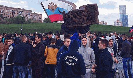 """Поддержать """"митинг скорби по Донбассу"""" в Москве согнали местных гопников и бюджетников"""