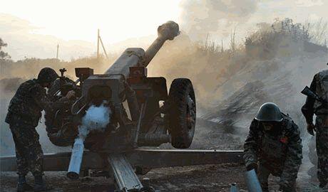 Российские агрессоры стягивают войска для решающего штурма Дебальцево