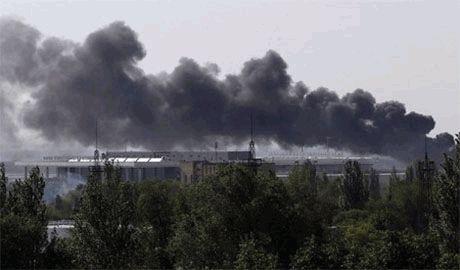 Центр Донецка снова обстреливают – на Университетской пожар