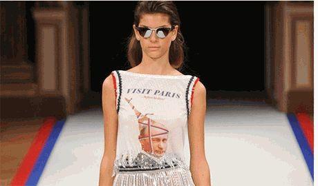 На Неделе Моды в Париже немецкие дизайнеры оригинально высмеяли Путина