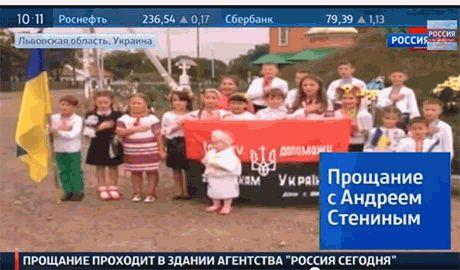 Пропагандисты РФ показали по ТВ первый детский боевой батальон на Прикарпатье