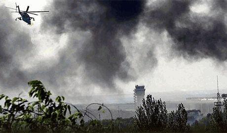 Донецк обстреливают из тяжелой артиллерии