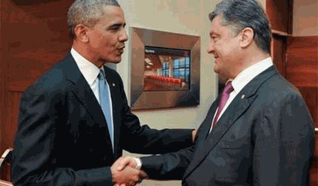 Порошенко призвал США «не словом, а делом» помочь украинскому народу сохранить целостность страны