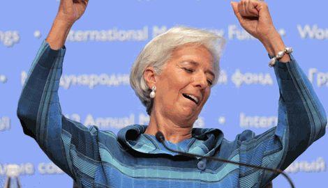 Глава МВФ в обмен на реформирование организации предложила исполнить танец живота