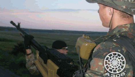 Первая рота полка «Азов» уничтожил танк и бронированный джип «Тигр» с российскими кураторами