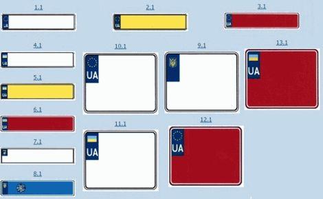 В Украине запатентовали номерные знаки для авто, европейского образца