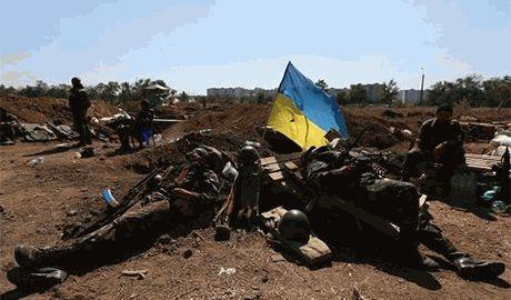 Боевикам надоело воевать? Над Горловкой поднят украинский флаг