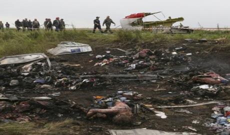 Человеческие останки обнаружили на месте крушения Boeing 777