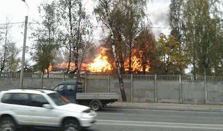В РФ сгорела военная часть Псковских десантников, солдаты которой воюют в Украине