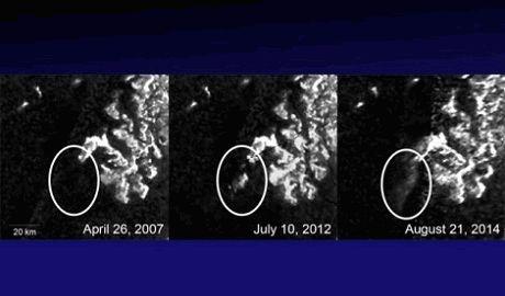 На спутнике Сатурна вновь появился загадочный объект ФОТО