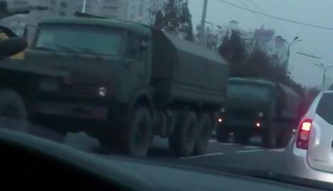 Около 60 единиц военной техники РФ въехало в Донецк
