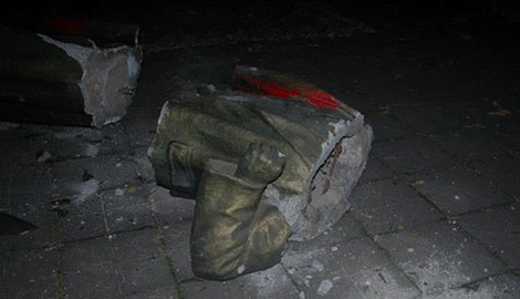Продолжение ленинопада: Милиция Запорожской области открыла уголовное производство по факту незаконного сноса памятника Ильичу