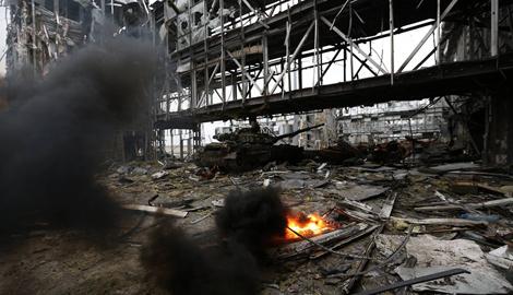 """""""Терминаторы"""", которые удерживают Донецкий аэропорт зачистили новый терминал от боевиков"""