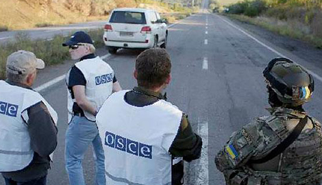 В зоне АТО напали на конвой миссии ОБСЕ