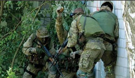 Украинская ДРГ без выстрелов и криков, на одном из блокпостов террористов ликвидировала  все патроны