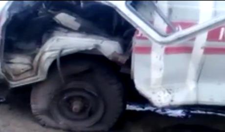 Террористы уже целятся в автомобили скорой помощи! (ВИДЕО)