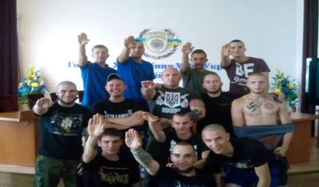 Признаки нацизма в Главном управлении МВД в Киевской области (ВИДЕО)