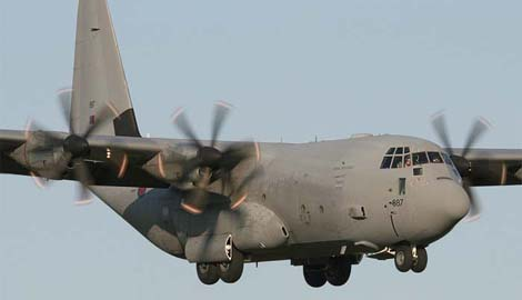 В Запорожье сели четыре военно-транспортных американских самолета