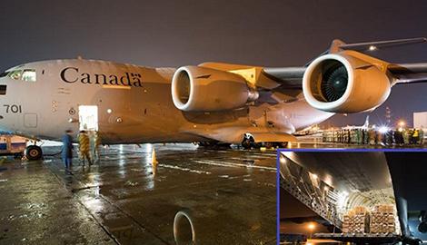 Новый фейк боевиков: Канадский самолет прилетел за тысячами трупов американских наемников