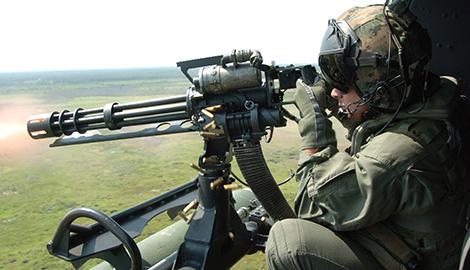 Киборгам подарили скорострельный американский пулемет Миниган?