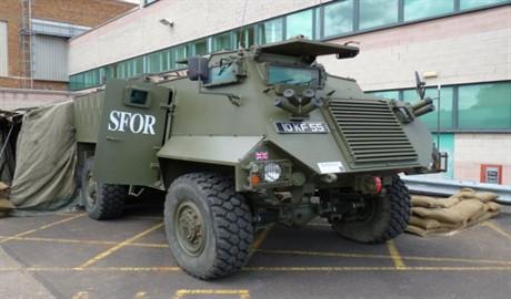 Бойцы АТО будут ездить на британских бронированных машинах