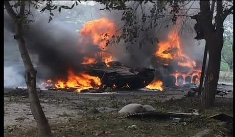 Донецкие партизаны сожгли 6 сепаратистских танков