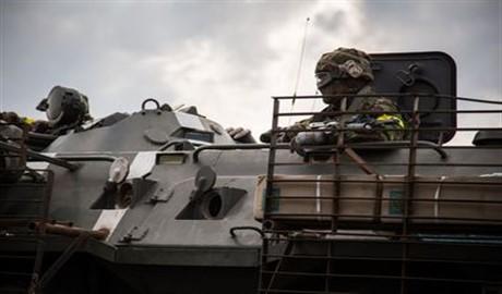 Не далеко от Енакиево замечена тяжелая военная техника