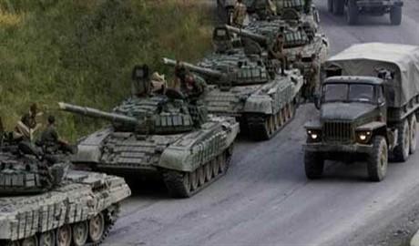 Срочно! Неизвестная колона военной техники движется в направлении Донецка