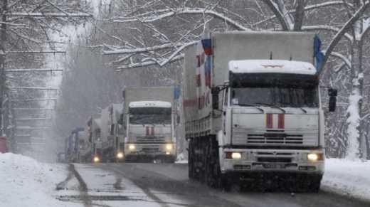 В СНБО подтвердили прибытие на Донбасс одиннадцатого гумконвоя РФ в составе 124 машин