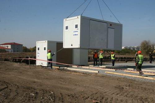 Немецкие модульные дома примут четыре сотни беженцев с Донбасса