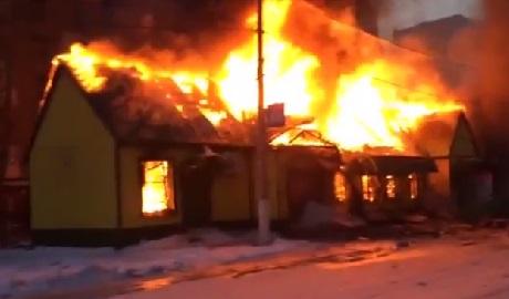 В Горловке боевики взорвали магазин ВИДЕО