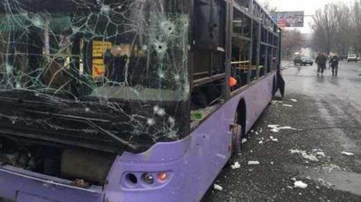 Троллейбус в Донецке расстреляли террористы «ДНР» — очевидцы