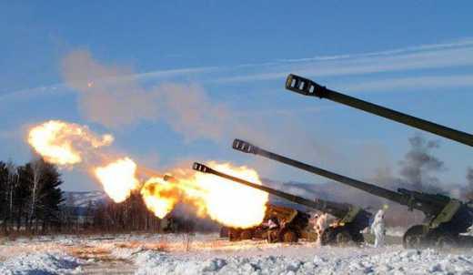 В результате успешной работы артиллерии ВСУ, боевики в районе Оленевки отступили
