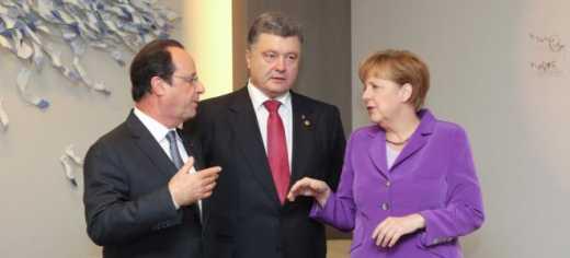 У Порошенко рассказали о чем шла речь во время трехсторонней встречи в Париже