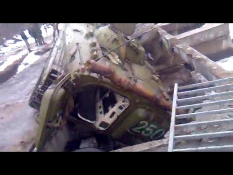 На Луганщине под БМД террористов провалился мост