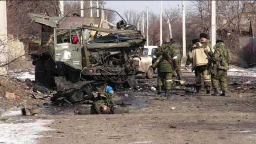 Террористические войска РФ продолжают гибнуть в Дебальцево даже после того, как оттуда вышли украинские войска 18+
