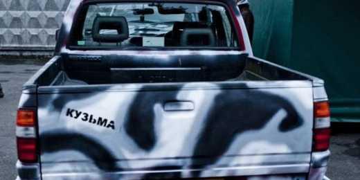 На передовую отправили джип, который для войнів АТО купил Кузьма Скрябин