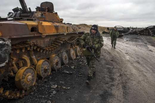 Колоссальные потери и разгром колонны, шедшей на помощь, заставили террористов отступить от  Дебальцевского креста