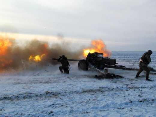 Артиллерия ВСУ работает по наступающим силам противника под Дебальцево, – Генштаб