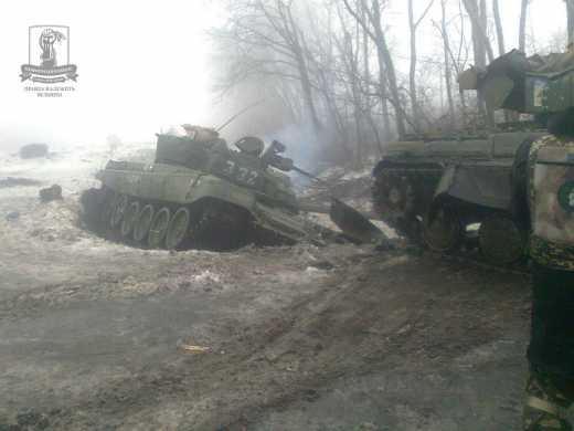 Реалии виртуального котла вокруг Дебальцево: ВСУ за полчаса сожгли 27 танков «ДНР»