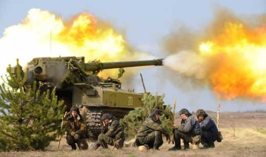 Мир по-русски: В районе Дебальцево замечены самоходные пушки Гиацинт-С