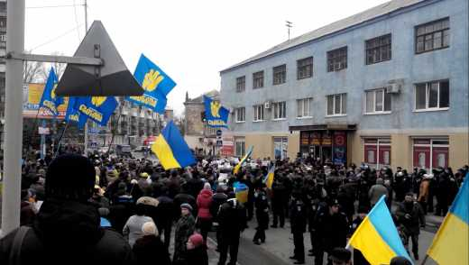 Патриоты Краматорска сорвали митинг против мобилизации