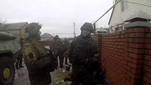 "Полк спецназначения ""Азов"" опубликовал видео штурма села Саханка"