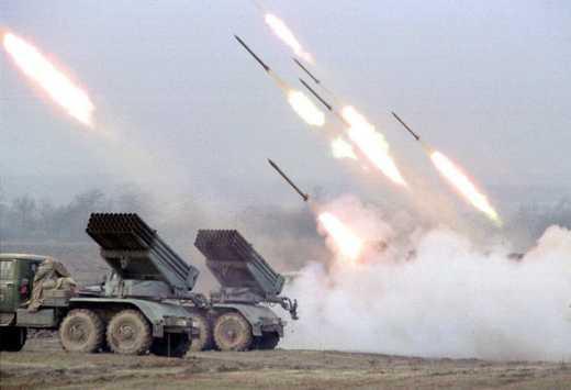 Террористы ударили системами залпового огня Град по территории РФ, – штаб АТО