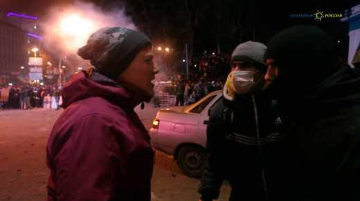 В сети появилось видео с Надеждой Савченко на улице Грушевского во времена Євромайдану