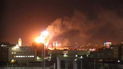 О сакральном: На годовщину аннексии Крыма в центре Москвы горит монастырь